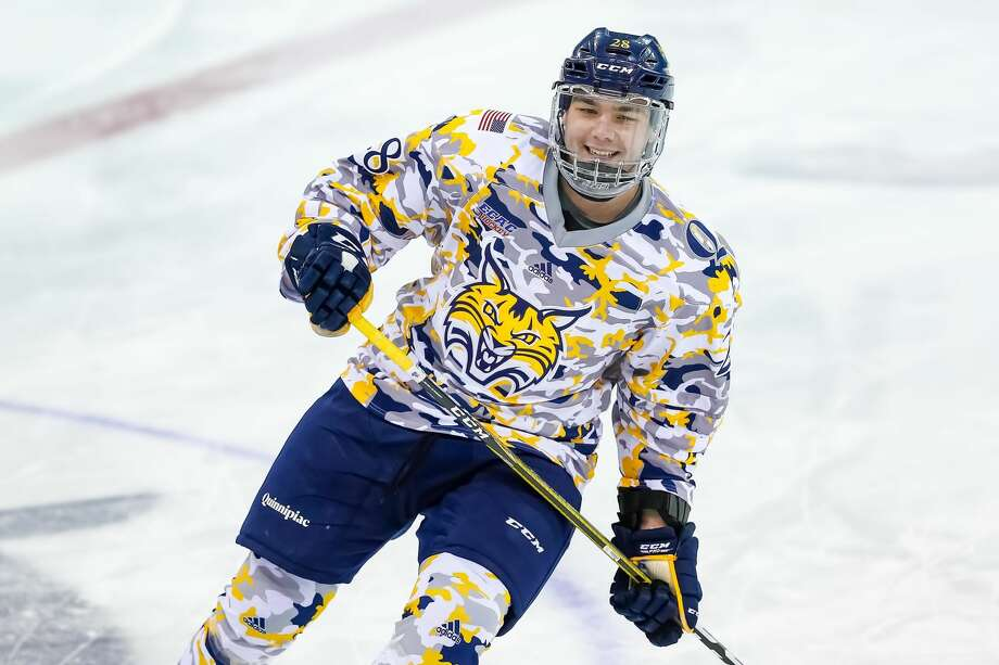 Quinnipiac's Joe O'Connor is the first Hamden native to score a goal for the Bobcats during the school's Division I era, which began 20 seasons ago.