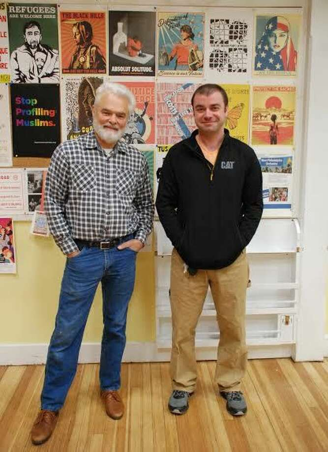 Whitneyville Cultural Commons Founder Laine Harris (left) and Robert Sheiman, Executive Director.