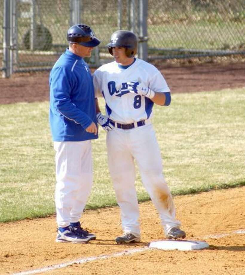 SCSU baseball coach Tim Shea, left, received no explanation for why the Owls were seeded fourth in the East Regional after winning the Northeast-10 Conference regular-season title. (Contributed photo)