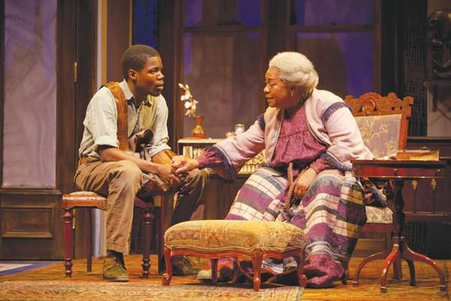 "Photo by T. Charles Erickson Stephen Tyrone Williams and Novella Nelson perform in ""Gem of the Ocean"" at Hartford Stage."