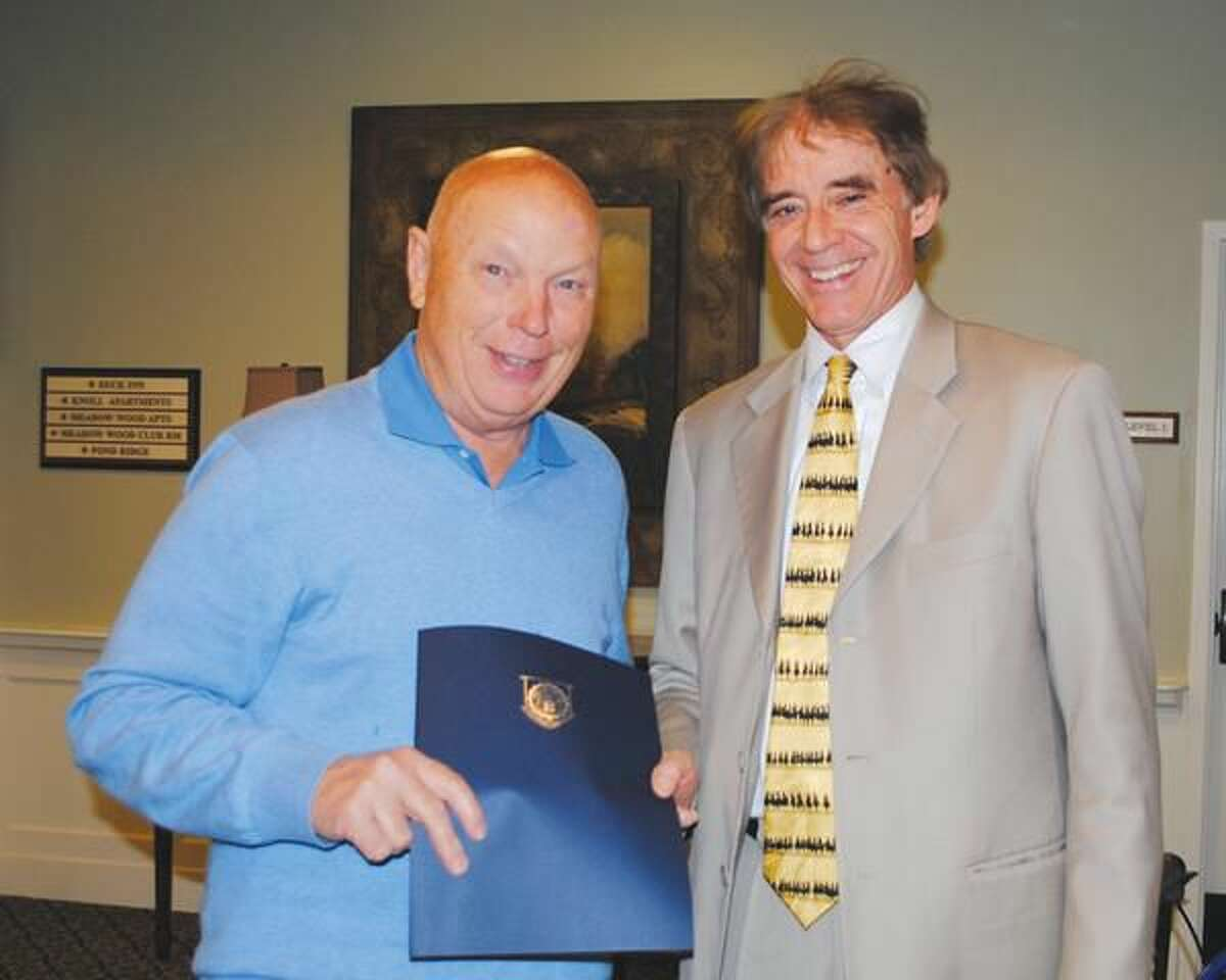 Submitted Photo Storey Musgrave and Mayor Dickinson.