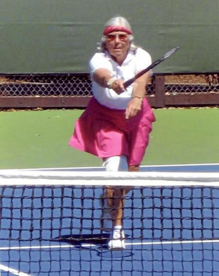 Submitted photo Carolyn Vanacore, 80, is in Texas competing in her 11th Senior Olympics despite undergoing hip surgery last May.