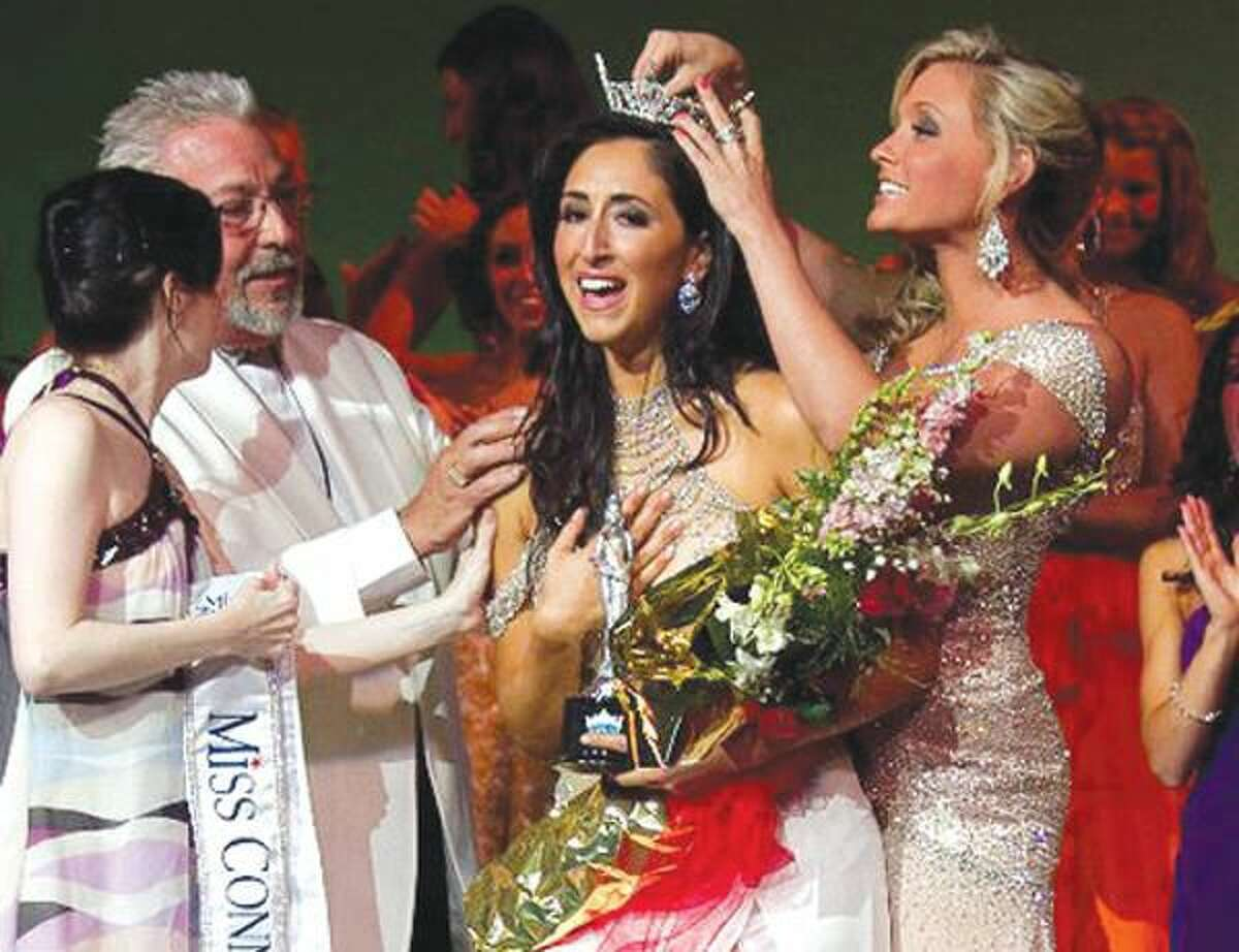 Submitted photo Hamden resident Morgan Amarone is crowned Miss Connecticut at Saturday's Pageant in New London.