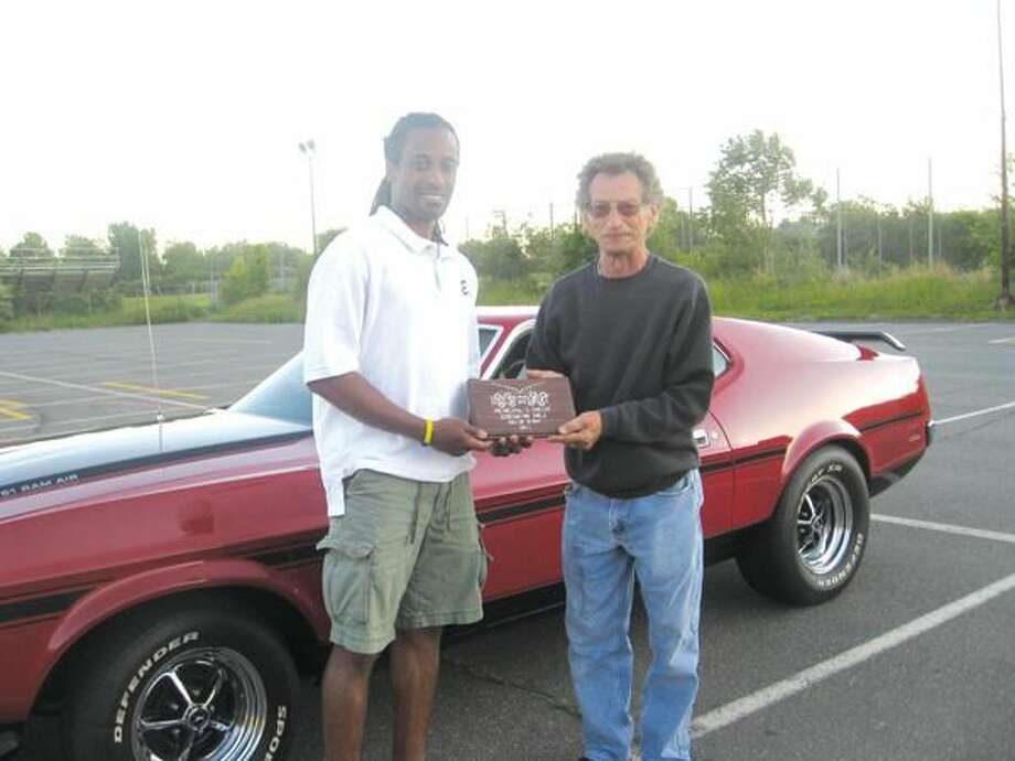 Submitted Photo The Principal's Choice Award went to Fred Sandella's (Classic Chevy Club) 1971 Ford Mustang Mach 1.