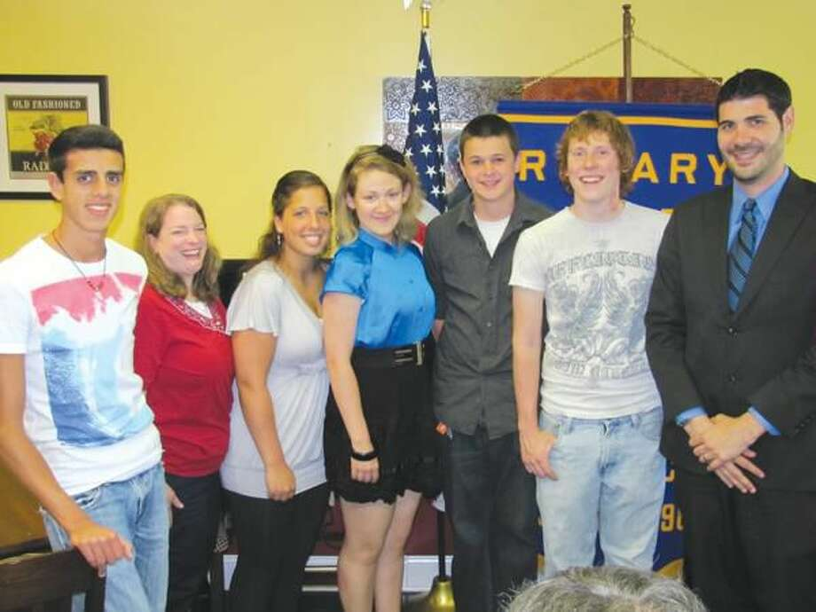 Submitted photo by David Marchesseault, Rotary Secretary Interact Club Officers with NHHS Staff (left to right): Joe Cristfano, Advisor Ellie Mulligan, Monica Keyes, Alex Johnson, Nickolas Baransky, Kurt Tietjen, and Administrative Intern Chris McLaughlin.