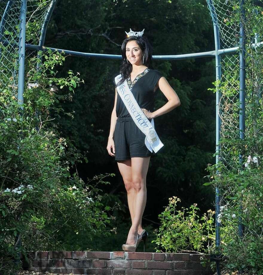 Photo by Brad Horrigan Hamden's Morgan Amarone was crowned Miss Connecticut Saturday.