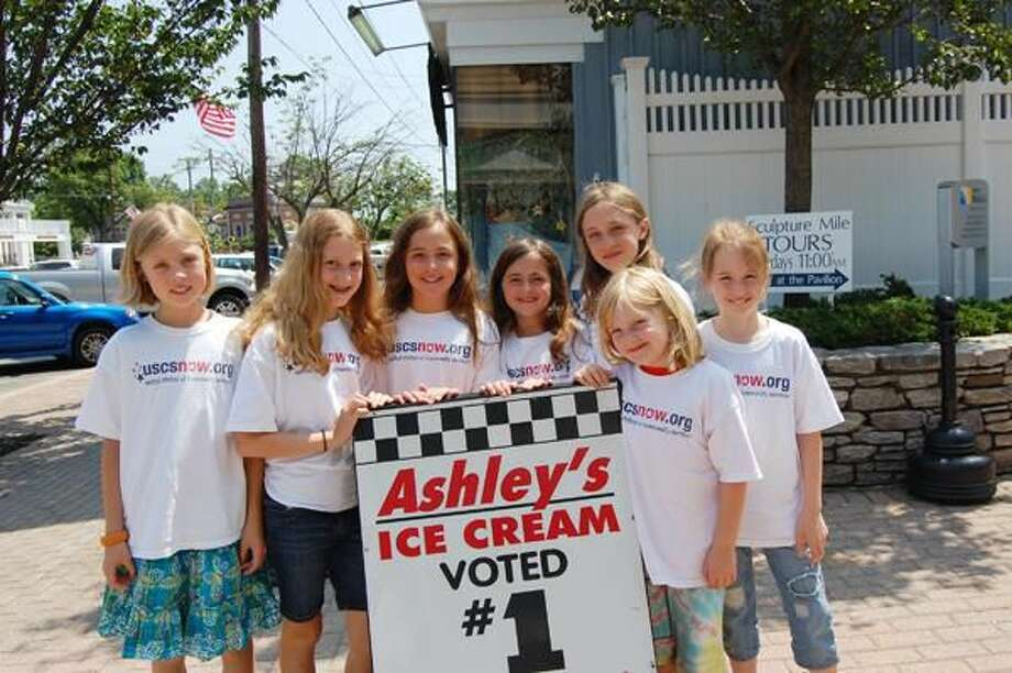 Submitted Photo Ashley's Ice Cream and Connecticut's almost-sleepover girls celebrate National Ice Cream month with a create-a-flavor contest to benefit 5 local charities.