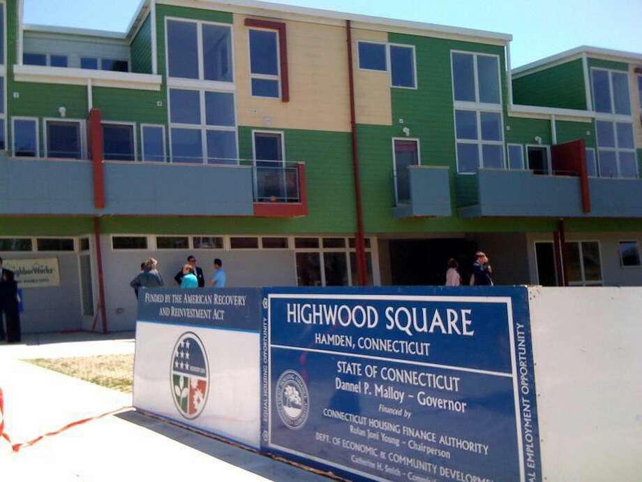 A ribbon-cutting ceremony for Highwood Square in Hamden was held Friday.