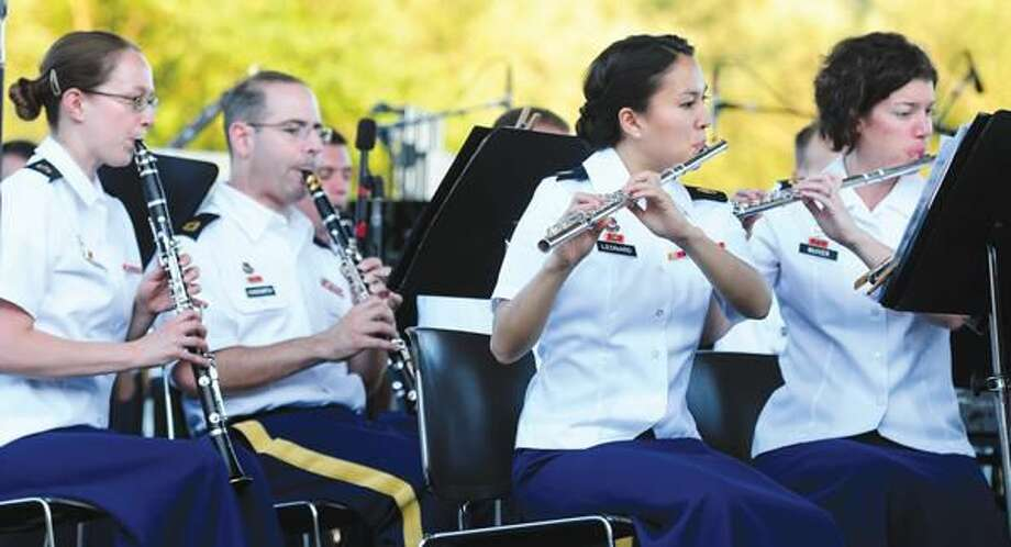 Photo by Arnold Gold Members of the U.S. Army Field Band perform at Town Center Park at Meadowbrook in Hamden July 1.