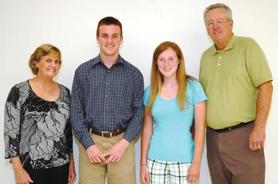 Submitted Photo Pictured left to right are Kate Carr, Coleman Dobb, Shannon Shultz and Bill Schule, HRYBL President.