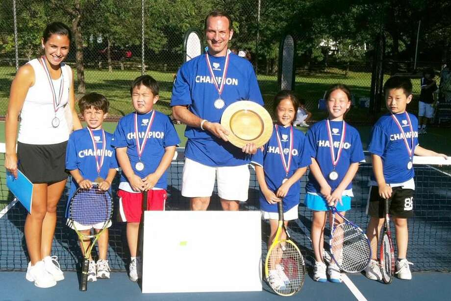 Submitted photo Hamden resident Angelo Rossetti helped guide the Weston Racquet Club to a first and fourth-place finish in the USTA Junior State Tournament last Friday at East Shore Park in East Haven.