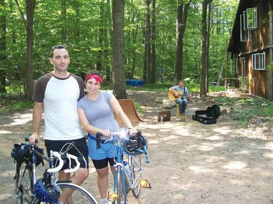 File Photo New Haven residents Bill Zimmerman and Melanie Lubin participated in the 2010 Tour des Farms which included stops in Hamden, North Haven and Cheshire.