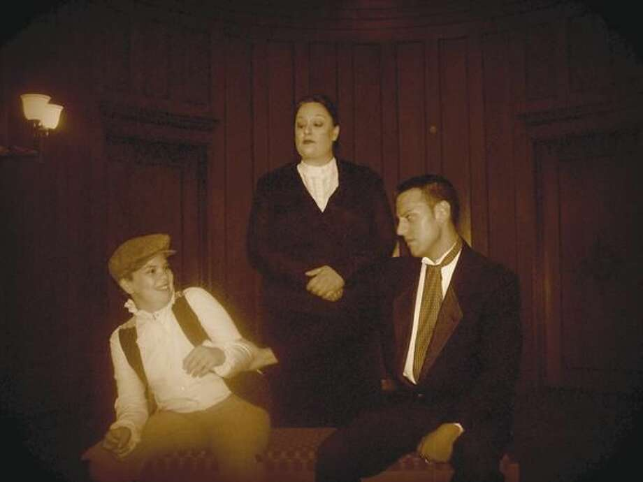 Submitted Photo T.J. Blotney (West Haven) as Colin Craven, Lara Morton (Madison) as Mrs. Medlock and Jason Lerma (West Haven) as Dr. Neville Craven.