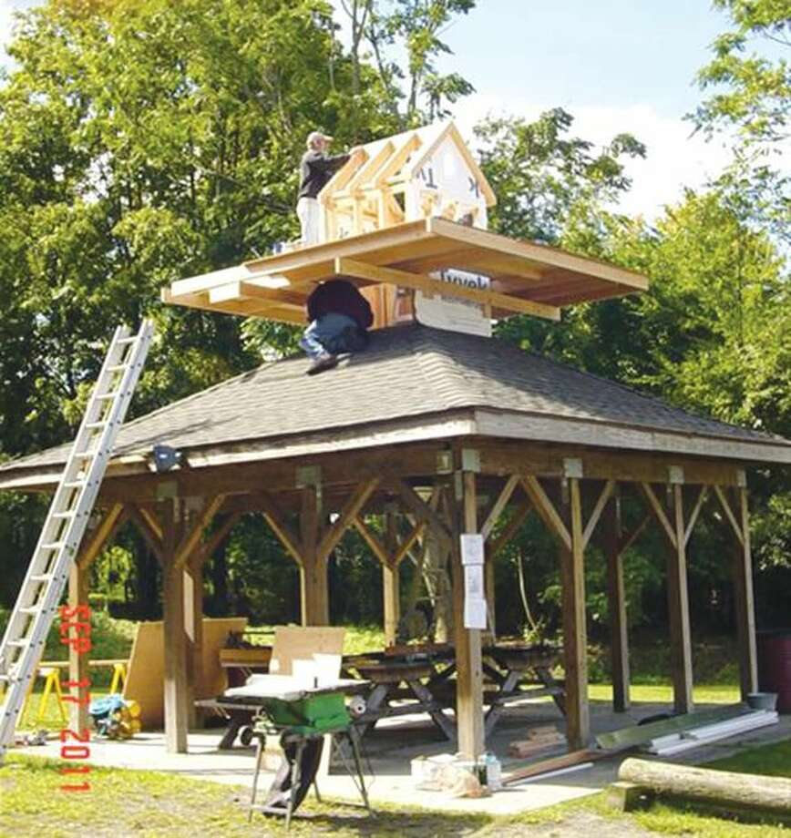 """Submitted Photo A cupola was added to the """"hermitage"""" at Peter's Rock Park this past Saturday."""