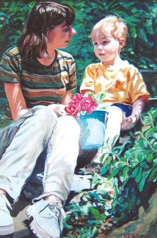 """Camille and Brett,"" an oil painting by MaryLou LaFemina Pellegrino."