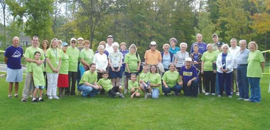 Submitted Photo Close to 50 Masonicare employees, residents and family members joined together to participate in what has become an annual event to raise funds for the Alzheimer's Association, Connecticut Chapter.
