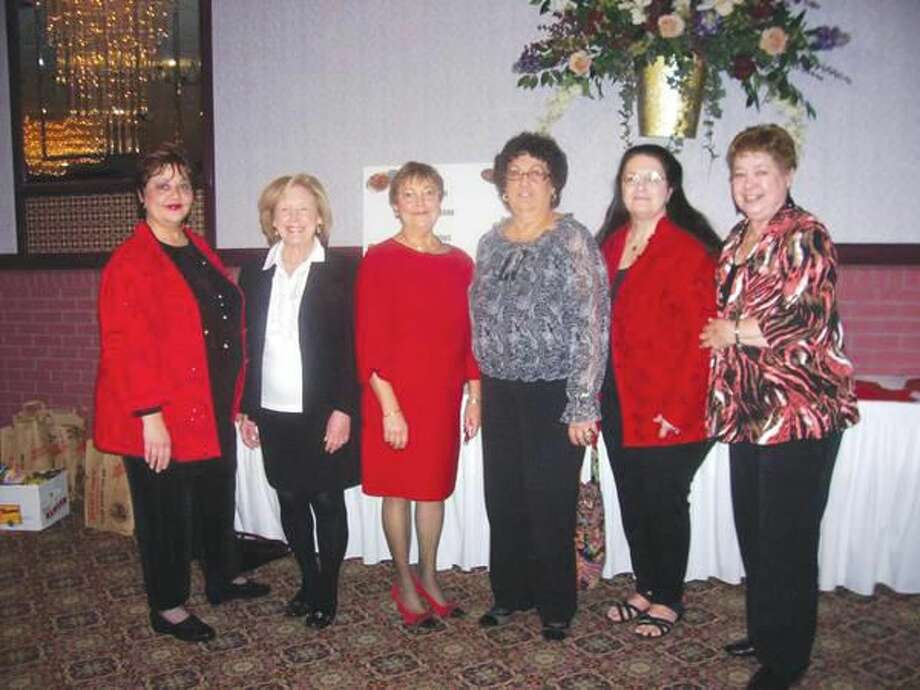 Submitted Photo Pictured left to right are Ann DeMatteo (New Haven Register), Diane Tannenbaum (HART, United), Annette LaVelle and Mary Lou Masi (Event Co-Chairwomen), Vera Morrison (Hamden Town Clerk), and Annmarie McConville (HWC).