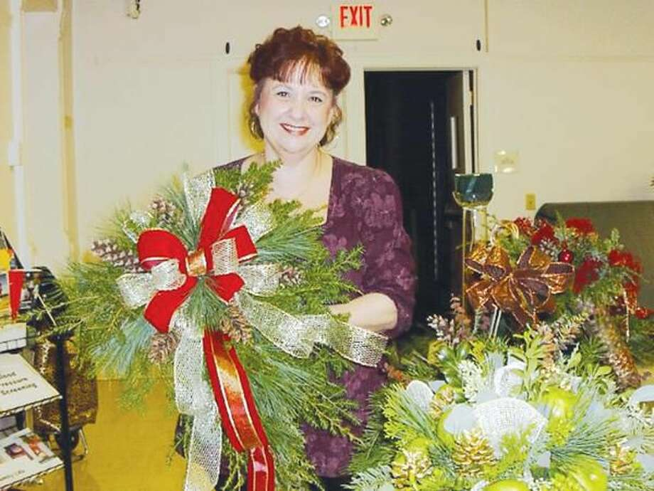 Submitted Photo Rose Marano of Blossoming Blessings at the November meeting of the Wallingford Garden Club.