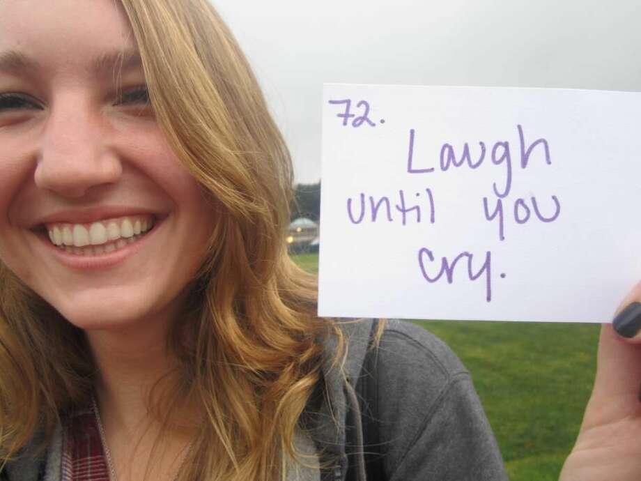 Quinnipiac University student Lauren Taylor from her suicide prevention video.