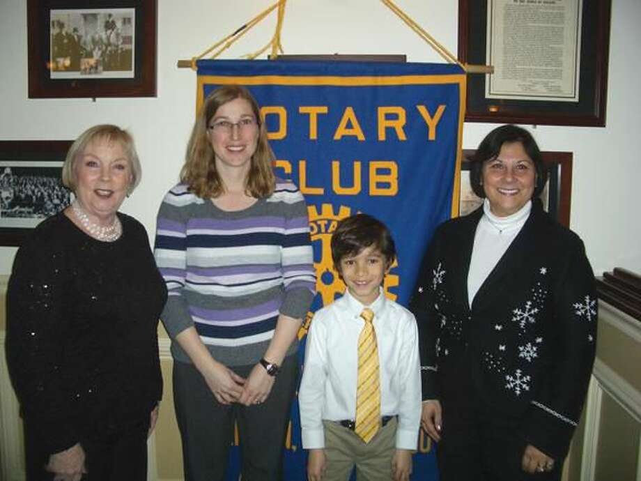 Submitted Photo Student of the Month recipient Kavi Talawalkar with his teacher Shelby Irwin are pictured with school principal Vanessa Ditta and Rotarian Betsy Gorman.