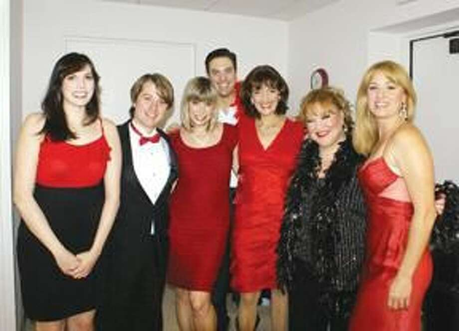 Submitted Photo Kristin Huffman (far right) with some of her Broadway Babes (left to right): Becca Zaretzky, Jonathan Lakeland, Candy Benge, Reed Prescott, Randye Kaye, and Gwendolyn Jones.