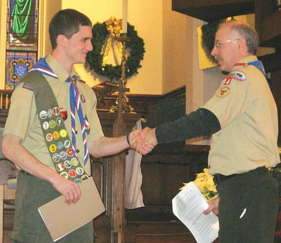Submitted Photo Eagle Scout Jacob Werman is honored at an Eagle Scout Court of Honor Sunday, Jan. 8.
