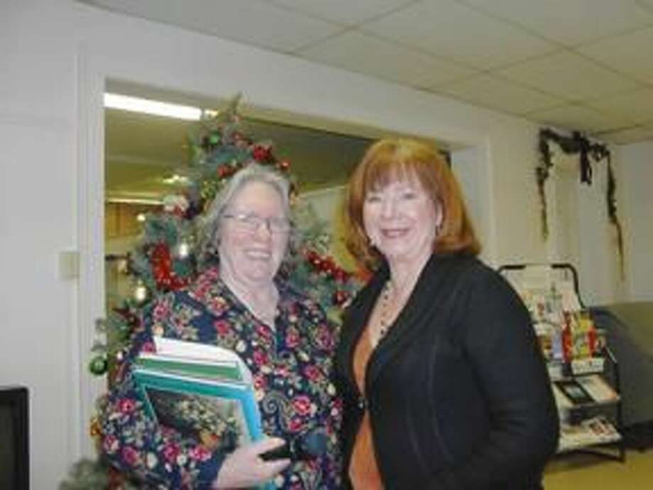 Submitted Photo Left to right, Sandy Parsons, Program Chair, and Carol King Platt at the Wallingford Garden Club Jan. 10 meeting.