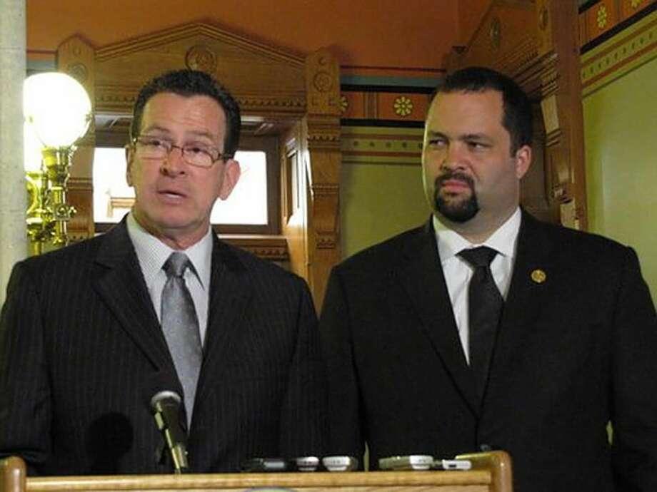 Gov. Dannel P. Malloy and NAACP President Benjamin Todd Jealous. Hugh McQuaid Photo