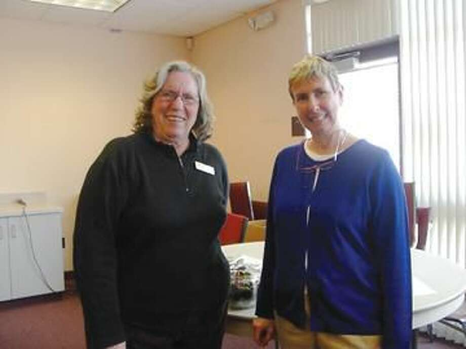 Submitted Photo Pictured, left to right, are Sandy Parsons, Wallingford Garden Club Program Chair, and Karla A. Dalley.