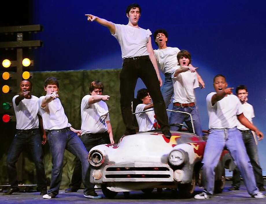"""Photo by Melanie Stengel Hamden High School students perform """"Grease"""" May 4 and 5. Tickets are $12 for all reserved seats. Senior Citizen tickets are $10 for all performances. For information or tickets call 203-407-2040 (ext. 3102) or email hhsmainstage@yahoo.com."""