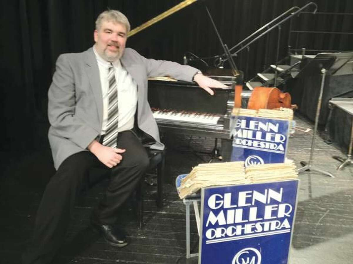 Submitted Photo Jeremy Hutchins on stage with the Glenn Miller Orchestra March 7 in East Haven.