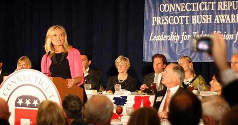 Ann Romney addresses Connecticut Republicans. Christine Stuart photo/ctnewsjunkie.com