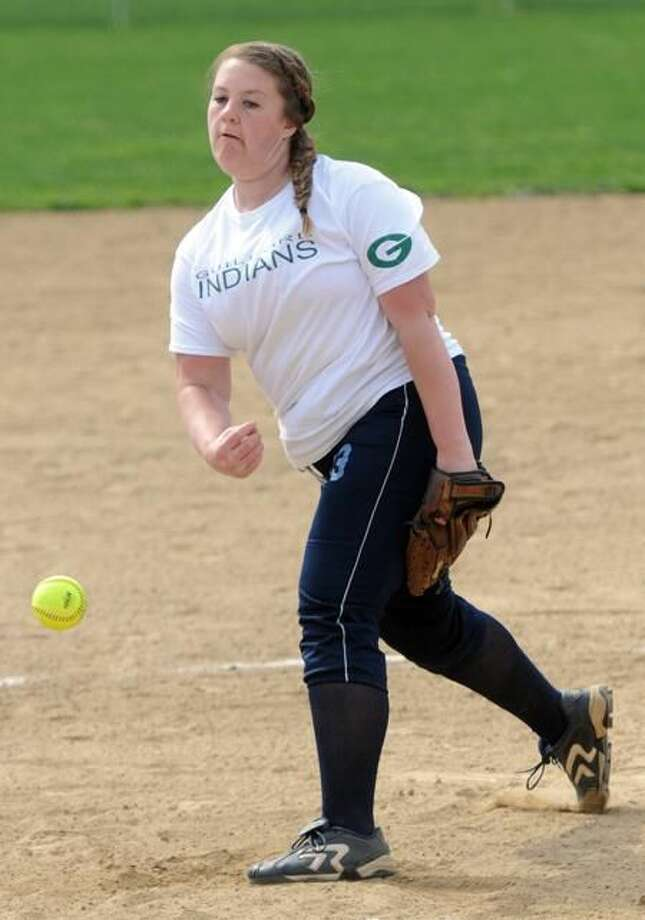 Guilford softball pitcher Leah Torre is one of the top pitchers in the Southern Connecticut Conference. Photo by Peter Hvizdak / New Haven Register