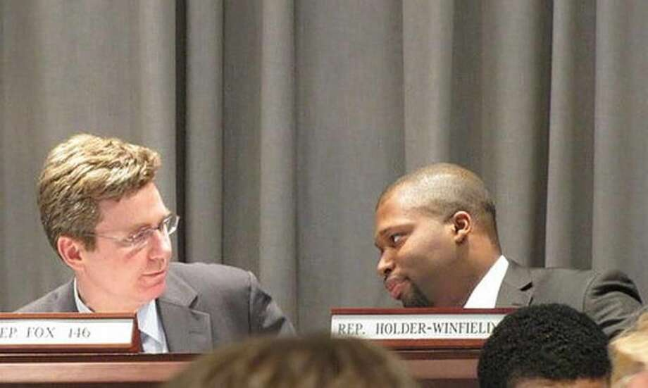 Judiciary Committee Co-Chair Rep. Gerald Fox and Vice Chair Rep. Gary Holder-Winfield. Hugh McQuaid Photo