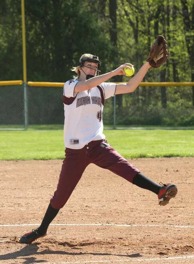 Photo by Russ McCreven North Haven's Arianna Pustari delivers a pitch during a game earlier this season.