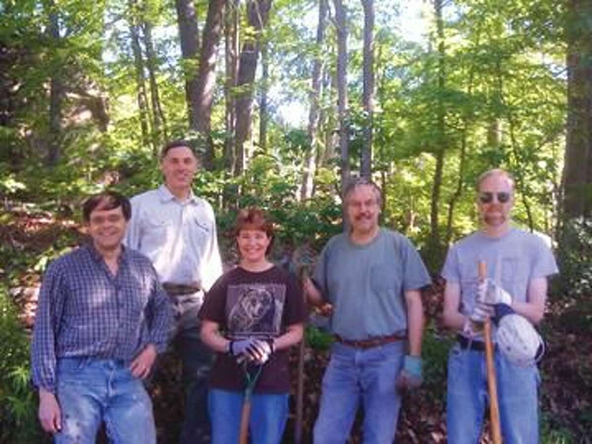 Submitted Photo Hamden Land Conservation Trust members Paul Begemann, Tom Parlapiano, Gail Cameron, Jim Sirch and Tom Stavovy. Not pictured are Dan Camenga and Betsy Gorman.