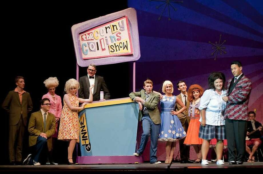 Players perform Hairspray at Hamden High School. Photo by Melanie Stengel.