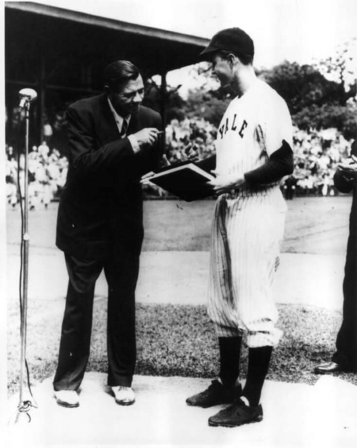 Yale Field was the site on that day in 1948 when Babe Ruth met future President and Yale captain at the time George H.W. Bush. (Photo courtesy of Yale Athletics)