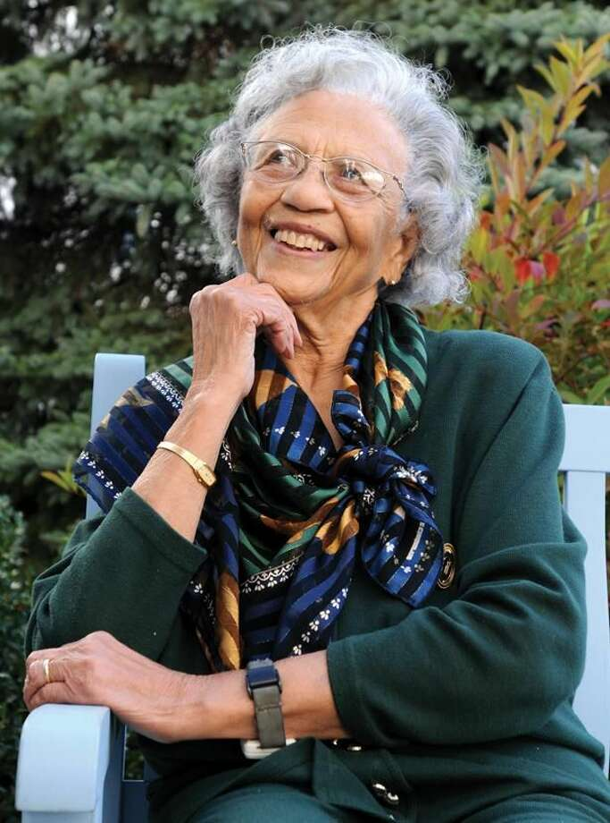 Photo by Peter Hvizdak Natalie Hardy of Hamden, 94, was the first African-American girl Scout to receive the Golden Eaglet Award in 1935.