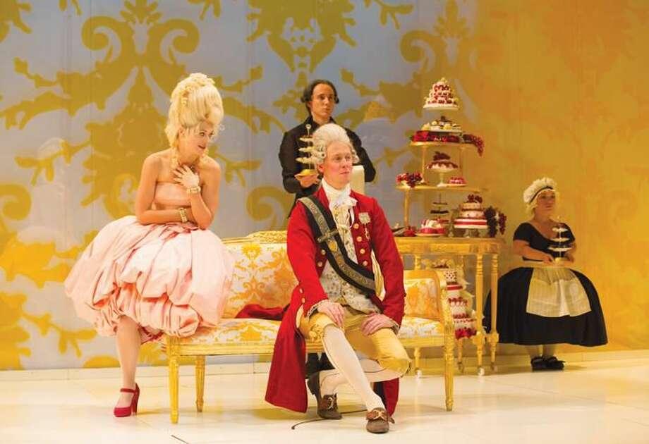 Marie Antoinette YRT 094Marie Antoinette, Yale Rep 10/25/12DAVID ADJMI (PLAYWRIGHT)REBECCA TAICHMAN (DIRECTOR)KAROLE ARMITAGE (CHOREOGRAPHER)RICCARDO HERNANDEZ (SCENIC DESIGNER)GABRIEL BERRY (COSTUME DESIGNER)CHRISTOPHER AKERLIND (LIGHTING DESIGNER)MATT HUBBS (SOUND DESIGNER)MATT ACHESON (PUPPET DESIGNER)JANE GUYER FUJITA (VOICE COACH)J. DAVID BRIMMER (FIGHT CHOREOGRAPHER)AMANDA SPOONER (STAGE MANAGER)AMERICAN REPERTORY THEATER (CO-PRODUCER)© T Charles Erickson http://tcharleserickson.photoshelter.comtcepix@comcast.net