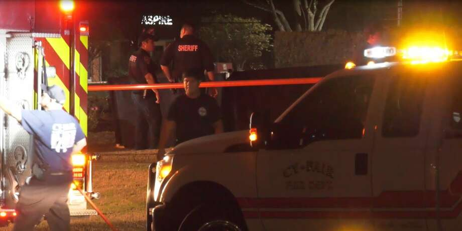 A man's body was found Monday in a small pond in northwest Harris County, according to authorities. Photo: OnScene.TV