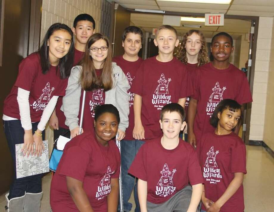 Submitted Photo The Wildcat Wizards are, from left to right, front row: Mikayla Pearson, Sean Cox, and Kierstin Jones; standing: JiWon Jeong, Bing Brigantic, Hayley Buba, Paul Paolella, Michael Acampora, Karlyn Jackson, and Sean Mfarinya.