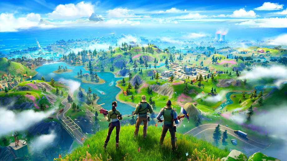 The new Fortnite map. Photo: Epic Games / The Washington Post