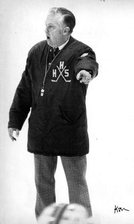 Hamden hockey coach Lou Astorino (Register file photo)