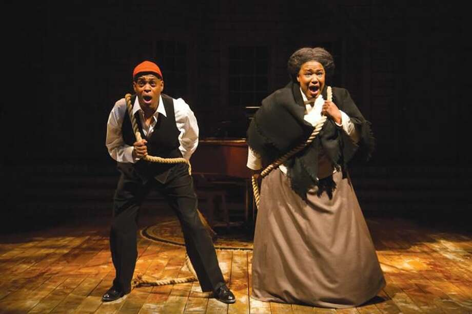 "Submitted Photo by T Charles Erickson Jubilant Sykes and Kecia Lewis perform in ""Breath & Imagination"" at Hartford Stage."