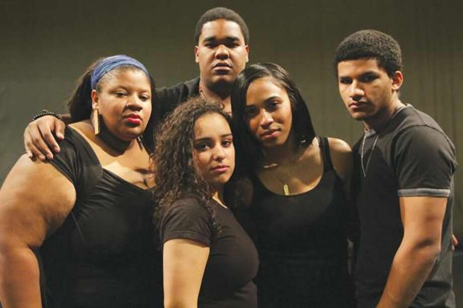 Submitted Photo Members of The First Wave Hip Hop and Urban Arts Learning Community, Cydney Edwards, left, Janel Herrera, Andrew Thomas, Thiahera Nurse and Christian Robinson, will perform at Quinnipiac University at 7 p.m. on Thursday, Feb. 21.