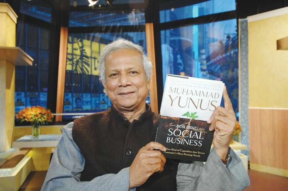 "Submitted Photo Nobel Peace Prize winner Muhammad Yunus, the author of the book ""Building Social Business,"" will lecture at Burt Kahn Court at Quinnipiac University at 7 p.m. on Wednesday, March 6."