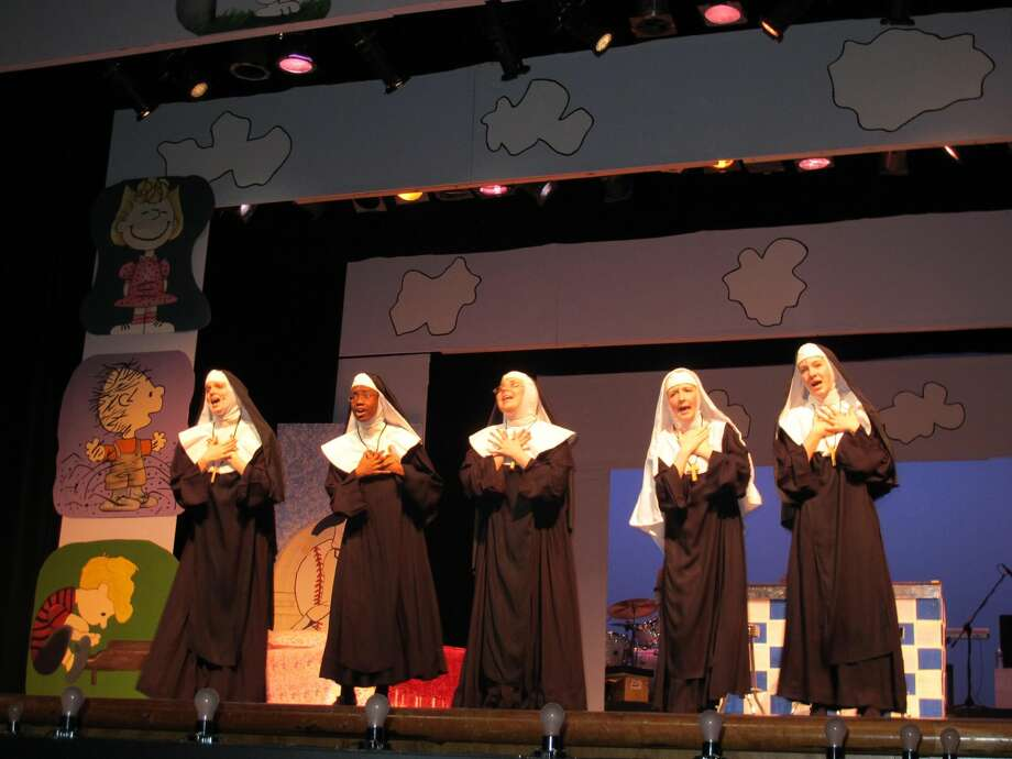 Submitted Photo From left to right, Emily Jones, Tabatha Gayle, Ali Mandell, Maire Whelan, and Nicollet La Framboise rehearse the opening number of Nunsense. Nunsense runs this Thursday-Saturday (Feb. 28-March 1) at 7:30PM at Hamden High School. For tickets, call 203-407-2040 (Ext. 3102) or email hhsmainstage@yahoo.com.