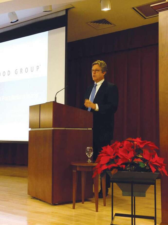 Submitted Photo by Nancy Dudchik Hamden Chamber of Commerce hosted Ted Kennedy Jr. last week at the Whitney Center.
