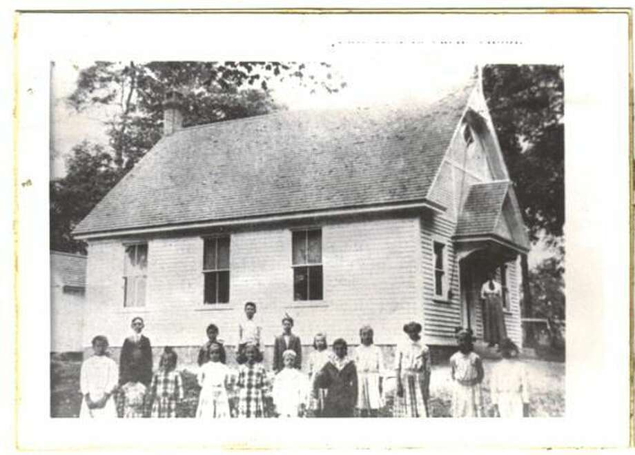 Submitted Photo An early photo of Clintonville schoolhouse.